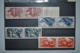 France 1949 Métiers Paires MNH Complet - Neufs
