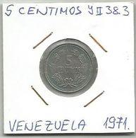 C11 Venezuela 5 Centimos 1971. Y#38.3 - Venezuela