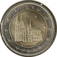 AL20011.1F - ALLEMAGNE - 2 Euros Commémo. Nord-Westphalie - 2011 F - Germany