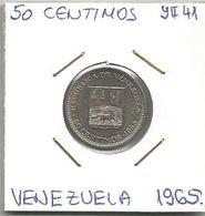 C11 Venezuela 50 Centimos 1965. Y#41 - Venezuela