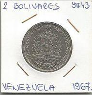 C12 Venezuela 2 Bolivares 1967. Y#43 - Venezuela