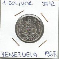 C12 Venezuela 1 Bolivar 1967. Y#42 - Venezuela