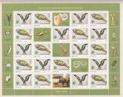 Lithuania 2004 - Michel 853-854 Full Sheet MNH **  T Ivanauskas Zoological Museum, Golden Eagle And Green Iguana - Lithuania