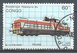 Congo YT N°888H Locomotive Dr-16 Finlande Oblitéré ° - Kongo - Brazzaville