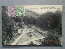 CPA 42 ROCHETAILLEE  Vallée Du Furan - Environs De Saint étienne Le Barrage , Les Vannes Du PAS DU RIOT  1930 - Rochetaillee