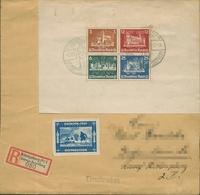 Deutsches Reich 1935 OSTROPA Block 3 Auf R-Brief Mit Sonderstempel (b88155) - Germania