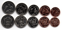 S. Tome E Principe - Set 5 Coins 10 20 50 Cents 1 2 Dobras 2017 UNC Lemberg-Zp - Sao Tome And Principe