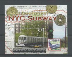 St Vincent 2004 NYC Subway S/S Y.T. BF 589 ** - Treinen