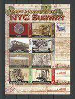St Vincent 2004 NYC Subway Sheet  Y.T. 4807/4814 ** - Treinen