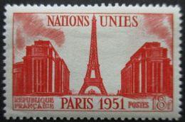 France N°911 TOUR EIFFEL Et PALAIS De CHAILLOT Neuf * - Denkmäler