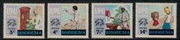 Rhodesia, 1974, UPU Centenary, Universal Postal Union, United Nations, MNH, Michel 155-158 - Rhodesië (1964-1980)