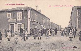 CPA (88)  AUTREVILLE Grande Rue Animée  (2 Scans) - Other Municipalities