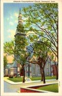 Iowa Davenport Edwards Congregational Church Curteich - Davenport