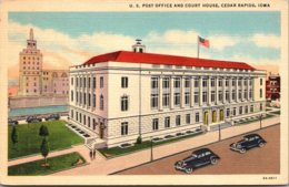 Iowa Cedar Rapids Post Office And Court House Curteich - Cedar Rapids