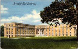 Iowa Cedar Rapids Greene Hall Men's Dormitory Coe College Curteich - Cedar Rapids