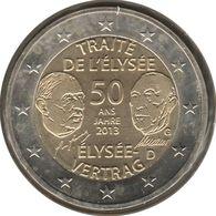 AL20013.1G - ALLEMAGNE - 2 Euros Commémo. Traité De L'Elysée - 2013 G - Germany