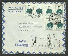 Lettre - Cover - Enveloppe Air Mail >>> FRANCE / TEHERAN 16.06.1956 - Iran
