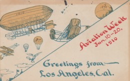 Aviation Week Los Angeles California January 1910, C1900s Vintage Postcard - Riunioni