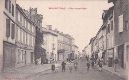 CPA (81) GAILLAC Rue Joseph Rigal 2 Scans) - Gaillac