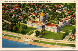 West Virginia Charleston Aerial View Front Of State Capitol - Charleston