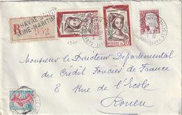 Lettre Recommandée à 0,85F. Du Havre - TP. N° 1301 X 2 Notamment. (combinaison Peu Fréquente). - 1961-....