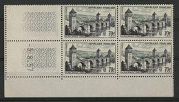 """N° 1119 Cote 120 € ** (MNH). Coin Daté Du 5/8/57 """"Cahors"""" TB - 1950-1959"""