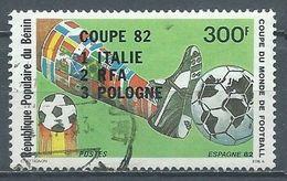 Bénin YT N°542 Coupe Du Monde De Football Espagne 82 Surchargé Classement Oblitéré ° - Benin – Dahomey (1960-...)