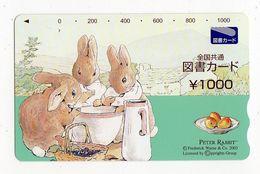 JAPON CARTE PREPAYEE PETER RABBIT - BD