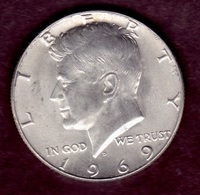 United States 1969, Kennedy Half Dollar, D-Denver, Minted - Federal Issues