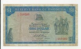Rhodesia 1 Dollar 1974 Fine+ Or More - Rhodésie