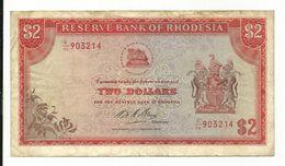 Rhodesia 2 Dollars 1975 Perhaps VF - Rhodésie
