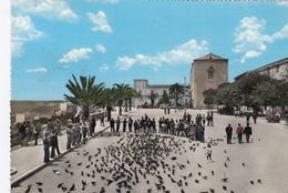 SCIACCA-AGRIGENTO-PIAZZA SCANDALIATO-CARTOLINA VERA FOTOGRAFIA-VIAGGIATA IL 5-10-1960 - Agrigento