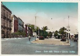 SCIACCA-AGRIGENTO-VIALE DELLA VITTORIA E GIARDINI PUBBLICI-CARTOLINA VERA FOTOGRAFIA-VIAGGIATA NEL 1960 - Agrigento