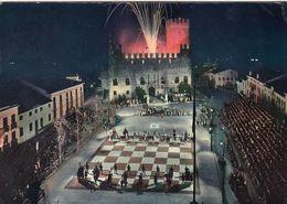 SCIACCA-AGRIGENTO-CASTELLO DI LUNA-PARTITA A SCACCHI IN COSTUME-CARTOLINA VERA FOTOGRAFIA-VIAGGIATA IL 14-4-1963 - Vicenza
