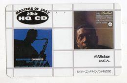JAPON TELECARTE JOHN COLTRANE Saxophoniste De Jazz, Compositeur Et Chef De Formation Musicale Afro-américain - Música