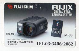 TELECARTE JAPON FUJIFILM Camera FUJIX - Télécartes