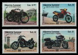 Sierra Leone 1985 - Mi-Nr. 831-834 ** - MNH - Motorräder / Motor Bikes - Sierra Leone (1961-...)