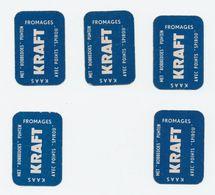 5 Miniatuurkaarten Kraft - Spirou Robbedoes - Cartes à Jouer