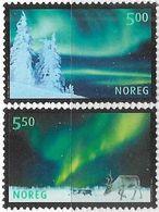 Norway   2001   Sc#1318-9  Aurora Borealis Set  MNH  2016 Scott Value $4.25 - Norwegen