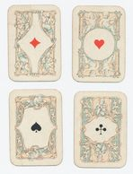 Kinderspeelkaarten B. Dondorf (van Voor 1906) - 4 Kaarten: 4 Azen - Cartes à Jouer