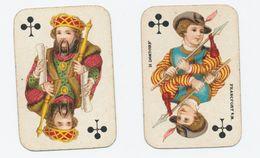 Kinderspeelkaarten B. Dondorf (van Voor 1906) - 2 Kaarten: Klaveren Boer En Klaveren Heer - Cartes à Jouer