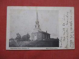 Congregational Church Hinesburg VT    Ref 4162 - Etats-Unis
