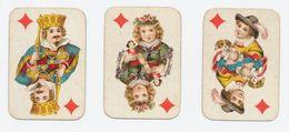 Kinderspeelkaarten B. Dondorf (van Voor 1906) - 3 Kaarten: Ruiten Boer En Ruiten Dame En Ruiten Heer - Cartes à Jouer
