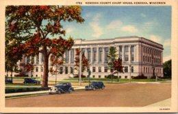Wisconsin Kenosha County Court House Curteich - Kenosha