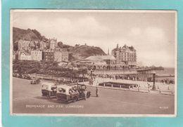 Small Postcard Of Promenade And Pier,Llandudno,Wales.K97. - Pays De Galles
