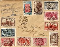 Mai 1937- Enveloppe D'Abidjan Affr. Petites Valeurs - Covers & Documents