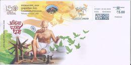 "Meter Franking Cancellation Based On Gandhiji With Slogan 'Live & Let Live"",Special Cover,Indien - Mahatma Gandhi"