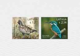 Latvia Lettland Lettonie 2020 Birds - Hazel Grouse - Common Kingfisher  MNH - Lettonia