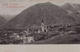 MALS-MALLES-BOZEN-BOLZANO-VAL VENOSTA-GRUSS AUS-CARTOLINA NON VIAGGIATA-ANNO 1900-1904-RETRO INDIVISO - Bolzano (Bozen)