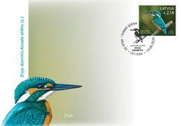 Latvia Lettland Lettonie 2020 Birds - Hazel Grouse - Common Kingfisher  FDC - Letland